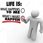 13903882-A-man-decides-that-life-is-what-he-makes-happen-choosing-to-take-charge-and-initiative-to-be-success-Stock-Photo